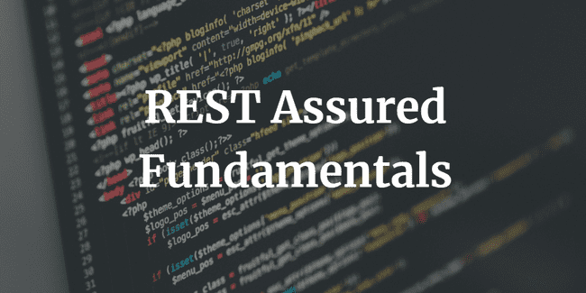 REST Assured Fundamentals course title image