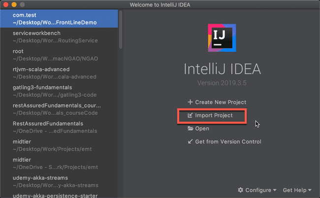 Import Project to IntelliJ